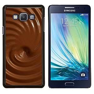 Caucho caso de Shell duro de la cubierta de accesorios de protección BY RAYDREAMMM - Samsung Galaxy A7 A7000 - Texturas de chocolate