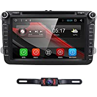 Wifi Android 6.0 Double Din 8 Inch Car DVD Player GPS Navi Radio For VW Volkswagen Mirrorlink Bluetooth Rear Camera USB SD RDS+ Optional DVR, OBD2, Digital TV, DAB+