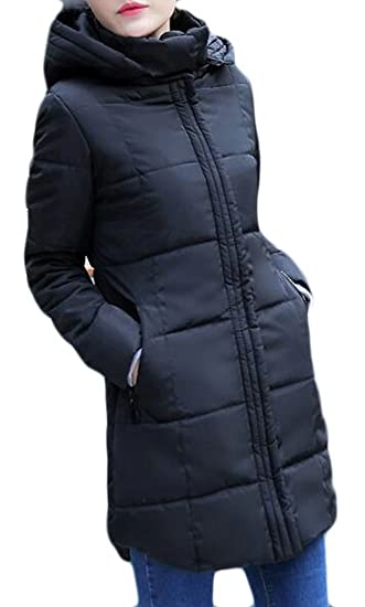 FLCH+YIGE Mens Quilted Autumn Winter Faux Fur Collar Jacket Coat Zip Front Outerwear