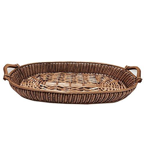 Wicker Grass Basket (Set of 10) 22 X 13 x H 3 in