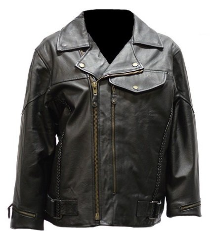Womens Vented Pistol Pete Leather Motorcycle Jacket (Size 4XL, (Pistol Pete Motorcycle)