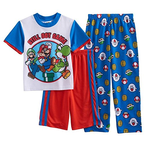 Super Mario, Luigi and Yoshi Still Got Game Size 12 3-Piece Pajama Set