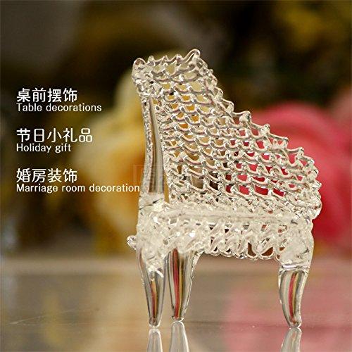 Piano Glass - MagiDeal Clear Glass Mini Piano Creative Table Decoration Ornament Gift 8x6cm