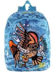 Ed Hardy by Christian Audigier Misha American Eagle Backpack in Blue Camo
