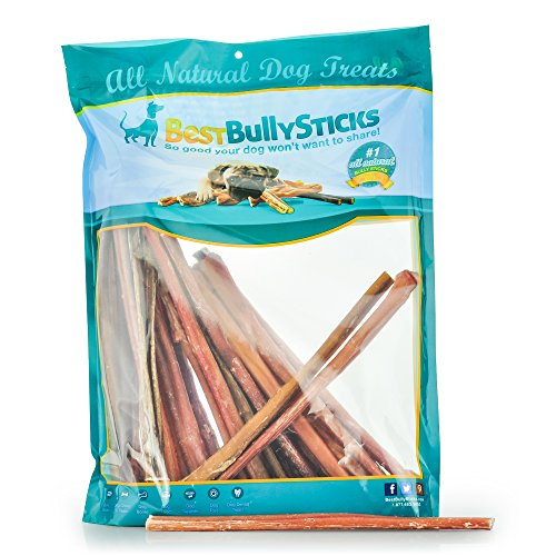12-inch Odor-Free Angus Bully Sticks by Best Bully Sticks (24 Pack) Free Range, Grass Fed Angus Beef by Best Bully Sticks