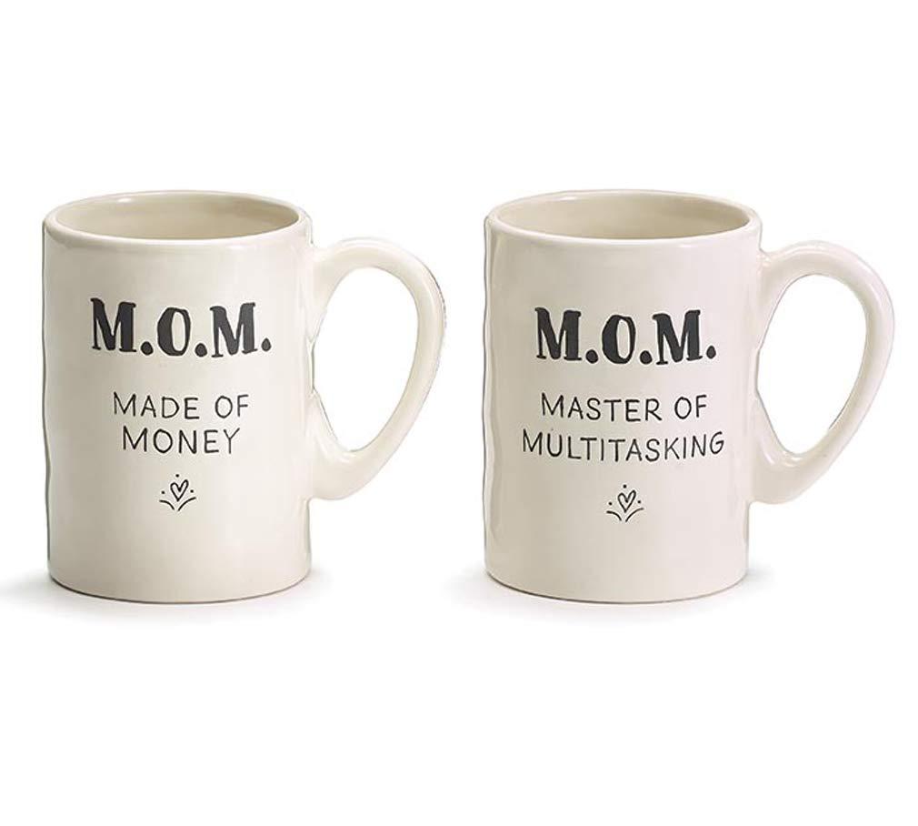 Acronym Ceramic Mug Set of 2 Drinkware Burtonandburton M.O.M