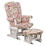 Cotton Tale Designs Tea Party Floral Glider with Ottoman