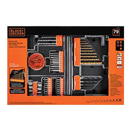 Black & Decker 79 pc Project Set (Holder Bit Tip Pivoting)