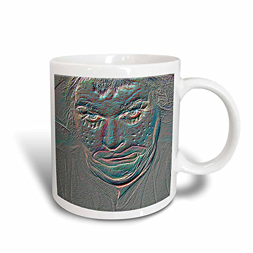 3dRose mug_52586_3 An Embossed Halloween Clown Face That is Pretty Scary and Weird, Magic Transforming Mug, -