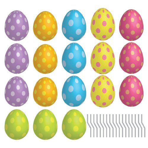 VictoryStore Yard Sign Outdoor Lawn Decorations: Easter Egg Pathway Markers - Flat Easter Yard Decorations with 18 Short Stakes.