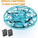 Upgraded 2020 Hand Operated Drones with Double Batteries, Easy to Replace Battery for Kids or Adults - Scoot Hands Free Mini Drone Helicopter, Flying Ball Drone Toys for Boys or Girls