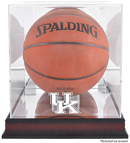 - Kentucky Wildcats Mahogany Basketball Display Case | Details: Antique Finish, with Mirror Back