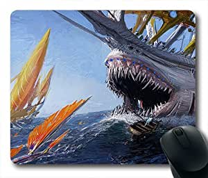 Ship Shark Jaws Boat Sea Oblong Shaped Mouse Mat
