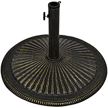 Best Choice Products 50lb Heavy Duty Cast Iron Patio Umbrella Base Stand    Bronze
