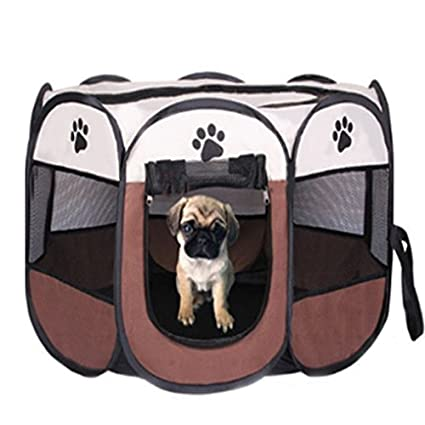 Dog Playpen Pet Cats Playpen Portable Exercise Kennel For Dogs Cats  Exercise Kennel Indoor Pet Playpen