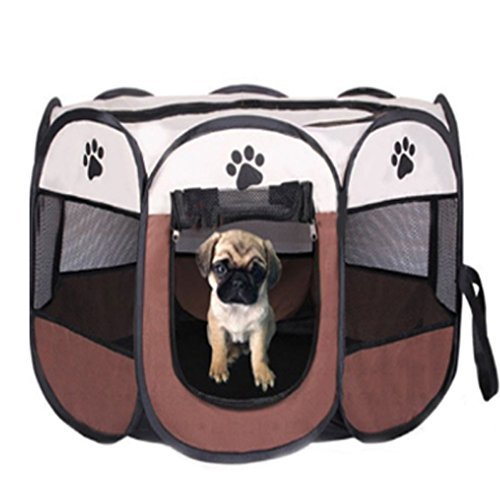 Dog Playpen Pet Cats Playpen Portable Exercise Kennel for Dogs Cats Exercise Kennel Indoor Pet Playpen Tent House For Small Dogs Cats by DDPet