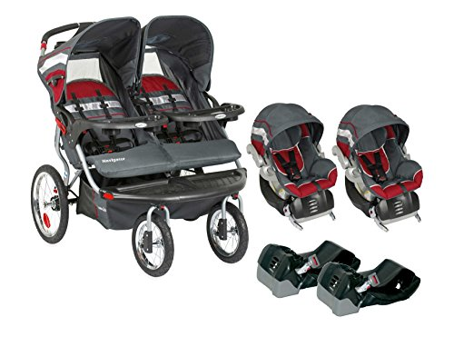 Baby-Trend-Navigator-Double-Jogger-Travel-System-Extra-Car-Seat-Bases