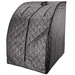 Durasage Lightweight Portable Personal Steam Sauna Spa for Weight Loss, Detox, Relaxation at Home, 60 Minute Timer, 800 Watt Steam Generator, Chair Included
