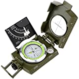 ARCHEER Multifunctional Metal Compass Military Army Aluminum Alloy Compass Pocket Size Compasses with Inclinometer, Measurer Distance Calculator for Hiking, Boating, Travelling