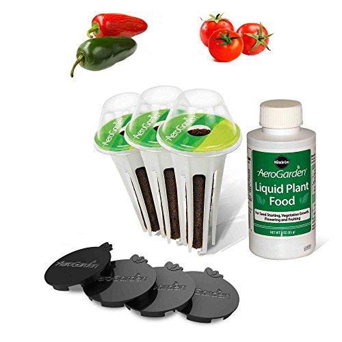 AeroGarden Salsa Garden Seed Pod Kit (Aerogarden Domes Grow)