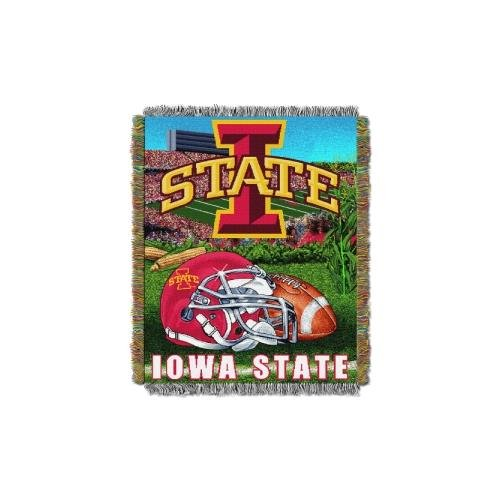 The Northwest Company Officially Licensed NCAA Iowa State Cyclones Home Field Advantage Woven Tapestry Throw Blanket, 48