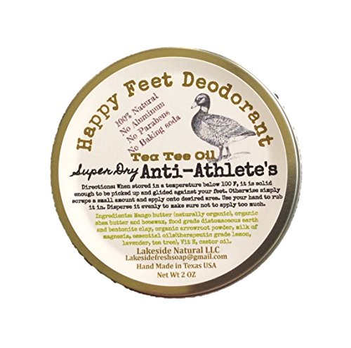 Athletes Foot Prevention Bar - All Natural Foot Deodorant Super Dry with Diatomaceous Earth, Tea Tree Oil, and Milk of Magnesia (MOM) 2 oz Solid Bar (Miracle Deodorant)