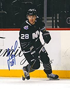 Signed Marek (New Jersey Devils) Zidlicky Photo - YORK ISLANDERS 8X10 w COA A - Autographed NHL Photos