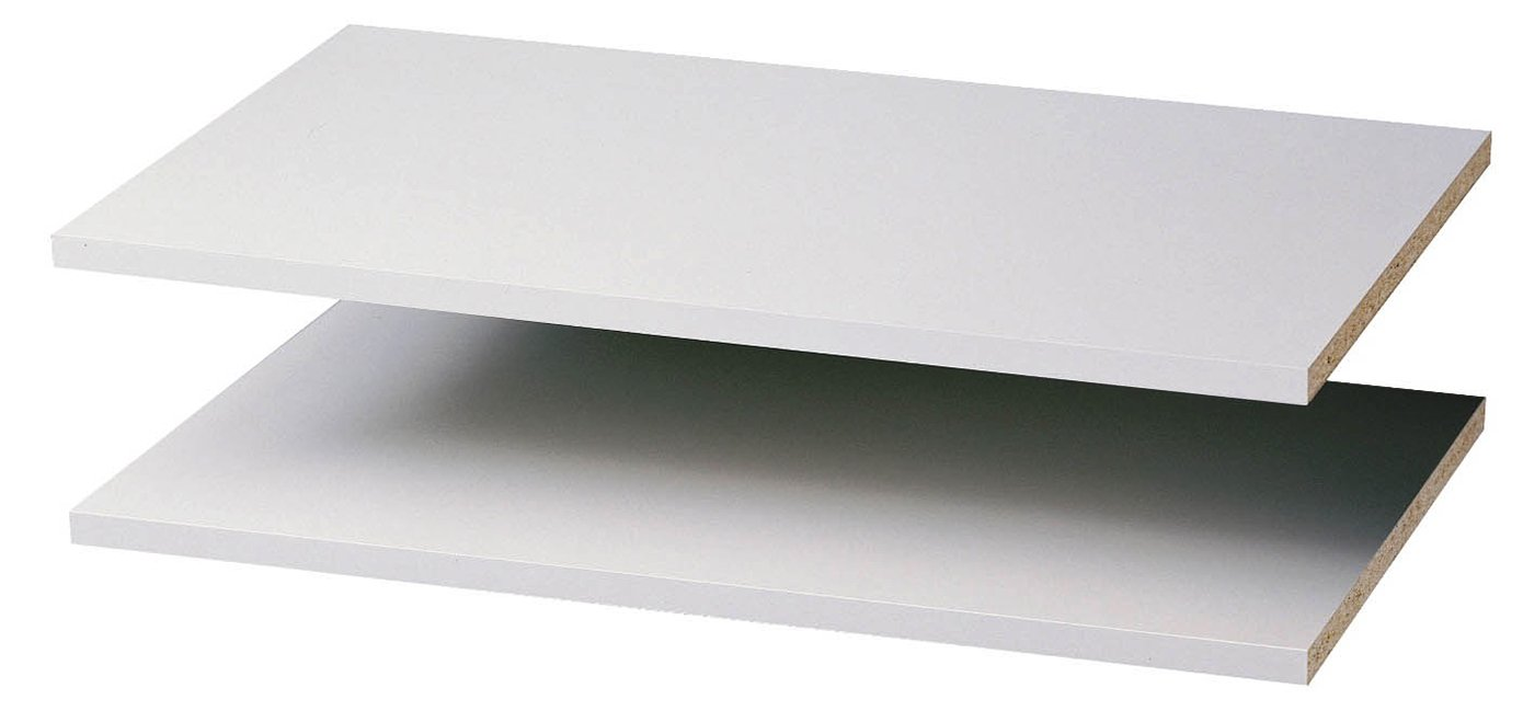 "Easy Track 2 Count Closet Shelves 24"" - 2 Pack White"