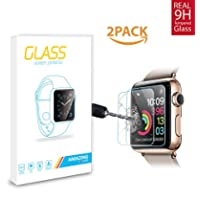 Amazingforless Premium 38mm Apple Watch Anti-Scratch Tempered Glass Screen Protector [Only Covers The Flat Area]