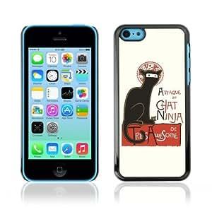 MMZ DIY PHONE CASEYOYOSHOP [Attaque Du Cat Ninja Funny ] Apple ipod touch 5 Case