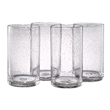 Artland Iris Highball Glasses, Clear, Set of 4