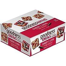 goodnessKNOWS Cranberry, Almond & Dark Chocolate Gluten Free Snack Square Bars 12-Count Box