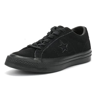 ffb27375da2c48 Converse One Star Ox Black Mono Suede Junior Trainers  Amazon.co.uk ...