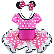 YiZYiF Toddlers Girls' Christmas Costume Party Tutu Dress Up With 3D Ears Headband