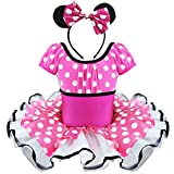 FEESHOW Toddler Girls' Minnie Mouse Costume Fancy Dress up Ballet Tutu Outfits