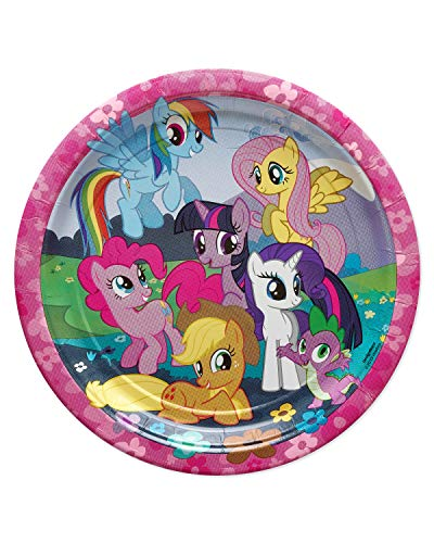 Pony Decorations Birthday Party (American Greetings  My Little Pony Party Supplies Paper Dinner Plates,)