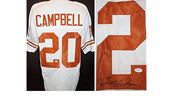 1ae5fcd268b Earl Campbell Signed Jersey - Custom Authenticity - JSA Certified - Autographed  College Jerseys at Amazon s Sports Collectibles Store
