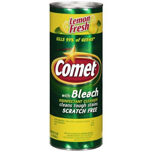 Comet Lemon Fresh Disinfectant Cleanser, 21 Oz Comet Disinfectant Cleaner
