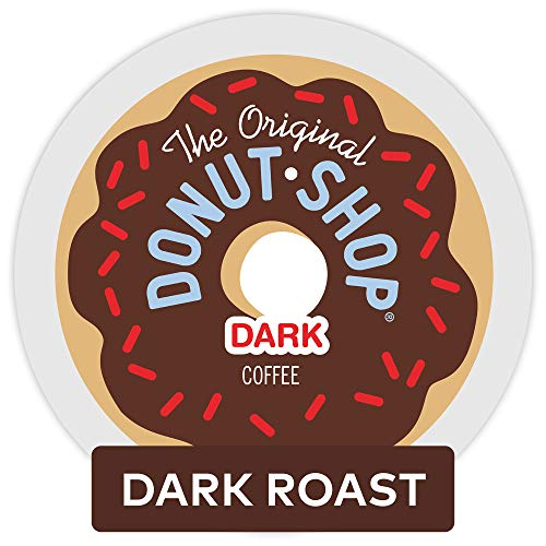 - The Original Donut Shop Dark, Keurig Single-Serve K-Cup Pods, Dark Roast Coffee, 72 Count (6 Boxes of 12 Pods)