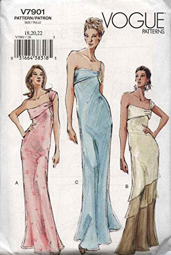 Vogue Sewing Pattern 7901 Misses Size 12-14-16 Formal Draped Dress Evening Gown (Patterns Evening Vogue Gown)