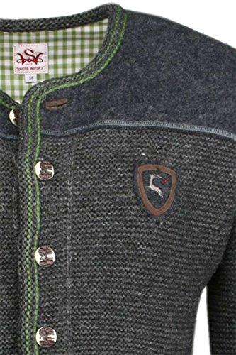 Angebot hoch gelobt retro Spieth & Wensky Herren Trachten Strickjacke anthrazit-grün 'Anderl',  anthrazit-grün,