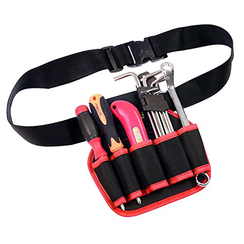 Perman Solid Color Waist Pack Toolkit Electric Drill Bag Adjustable Belt,Screwdriver Electrician Storage Bags Oxford Bag