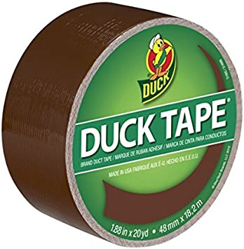 Single Roll Duck Brand 1304965 Color Duct Tape Brown 1.88 Inches x 20 Yards