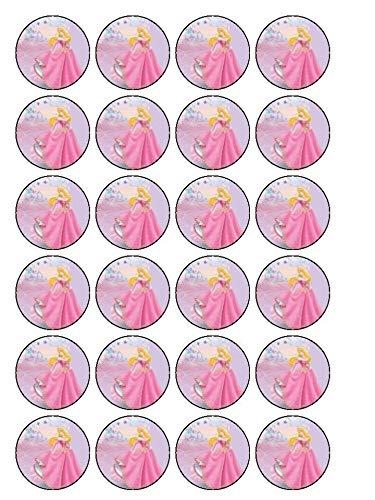 - Walt Disney Sleeping Beauty Aurora Edible Cupcake Toppers ABPID03410