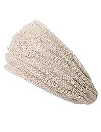 Casualbox Mens Mesh Fabric Headband Hair Band Accessory Unisex Beige