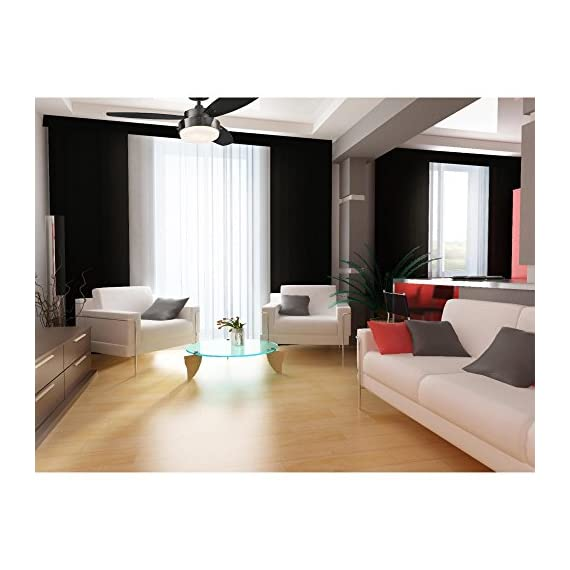 Westinghouse Lighting 7876400 Alloy 42-Inch Gun Metal Indoor Ceiling Fan, Light Kit with Opal Frosted Glass - Contemporary Indoor 42-inch ceiling fan is ideal for small rooms up to 100 square feet (10 feet by 10 feet) 153-millimeter by 10-millimeter silicon steel motor with dual capacitor; three fan speeds (high/medium/low); reversible switch for year-round use Fan Performance on High SpeedAirflow: 2, 897 cfm; Energy Usage: 53 watts without light; Airflow Efficiency: 55 cfm per watt - kitchen-dining-room-decor, kitchen-dining-room, chandeliers-lighting - 51n7stsPP7L. SS570  -