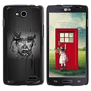 Be Good Phone Accessory // Dura Cáscara cubierta Protectora Caso Carcasa Funda de Protección para LG OPTIMUS L90 / D415 // Girl Camo Portrait
