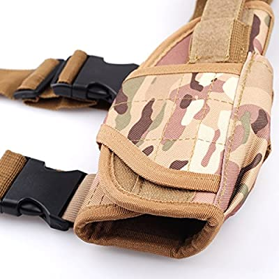 aokur Adjustable Airsoft Hunting Right Handed Leg Holster Tactical Waterproof Pistol Gun Drop Leg Thigh Holster