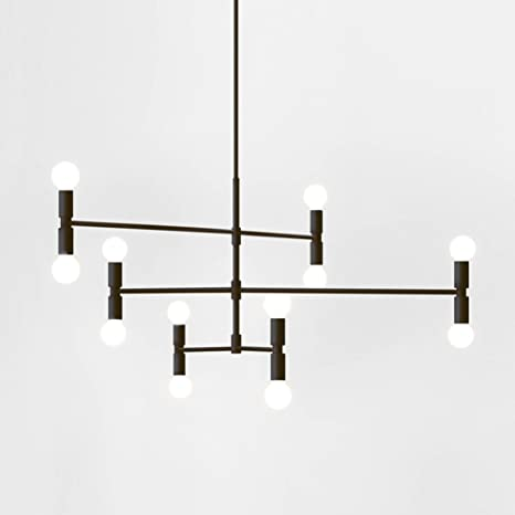Yoka modern pendant lighting ceiling chandelier hanging lamp with 12 yoka modern pendant lighting ceiling chandelier hanging lamp with 12 lights fixture flush mount black aloadofball Image collections
