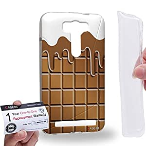 Case88 [Asus Zenfone 2 Laser ZE500KL] Gel TPU Carcasa/Funda & Tarjeta de garantía - Art Fashion Snow Melting Chocolate Bar Art1321